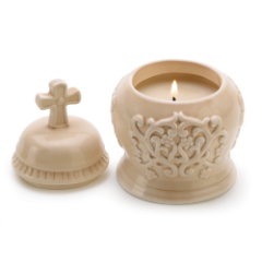 Amber Scented Cathedral Candle