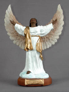"Golden Open Armed Angel LG 13""H"