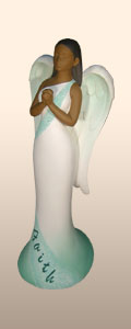 Faith Heavenly Virtues Angel Figurine