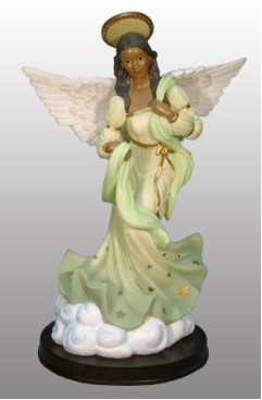 "Jade Angel in green 12""H"