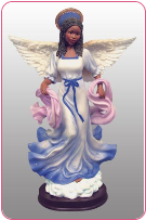 "Tiffany Angel in blue 12""H"